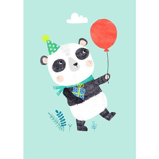 Petit Monkey Verjaardagskaart - postkaart - Panda - Rebecca Jones - Petit Monkey