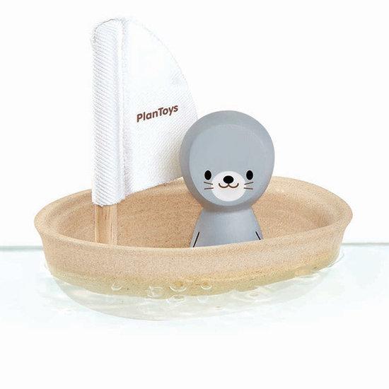 Plan Toys Bath toy - sailboat seal - Plan Toys +1 yr