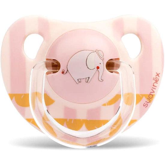 Suavinex Suavinex Fopspeen Anatomisch Siliconen 0-6M Elephant Pink