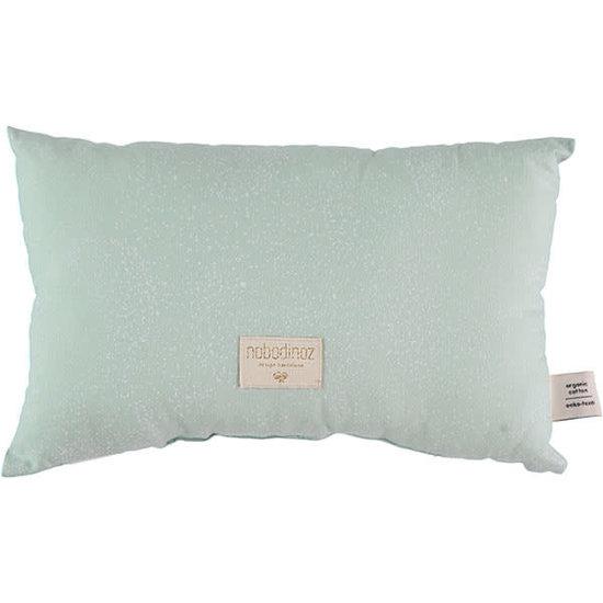 Nobodinoz tipi en accessoires Nobodinoz kussen Laurel - Elements - White Bubble-Mint Aqua