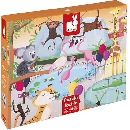 Janod speelgoed Janod - voelpuzzel - Een dag in de Zoo - 20st +3jr