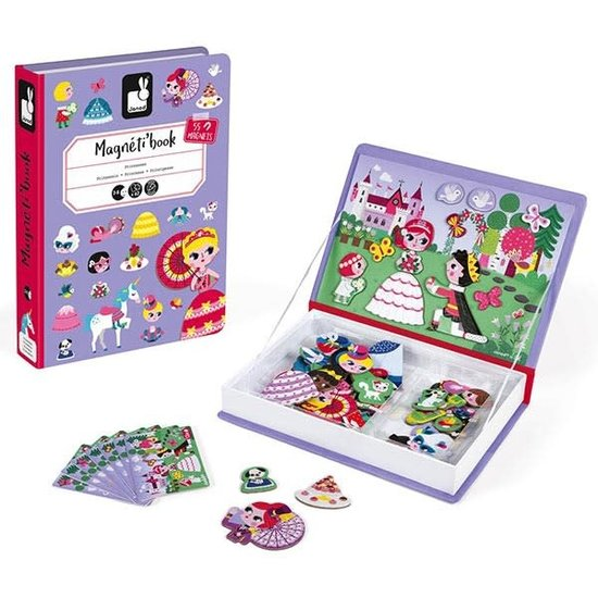 Janod speelgoed Janod - Magnetbuch Prinzessinnen - 62 Stück 3-8 Jahren