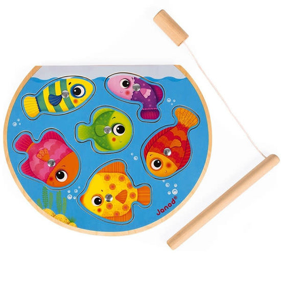 Janod speelgoed Janod - puzzle - magnetic fishing game - Speedy Fish
