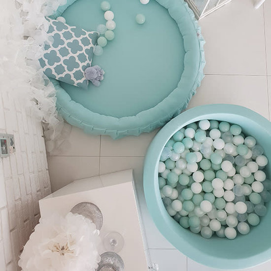 Little Thingz Ball pit round mint incl 200 balls pearl-transparent-mint-white