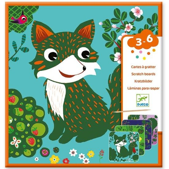 Djeco Djeco - kraskaarten - Kleine dieren 3-6 jr