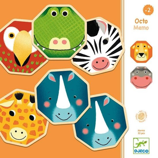 Djeco Memory - Octo Memo - wild animals - Djeco +2 yrs