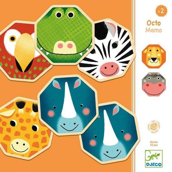 Djeco Memory Spiel - Octo Memo - wilde Tieren - Djeco +2 Jahren