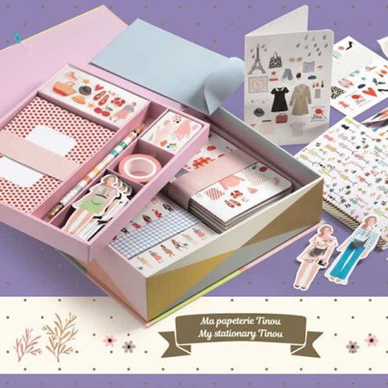 Djeco Djeco - papierwaren - Tinou koffer set - mode