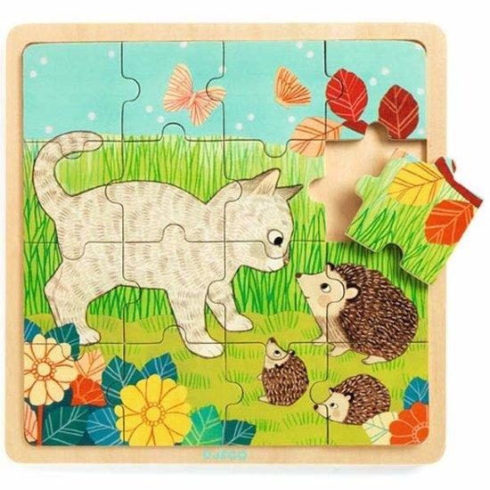 Djeco Djeco - puzzle garden +3 yrs - 16 pcs
