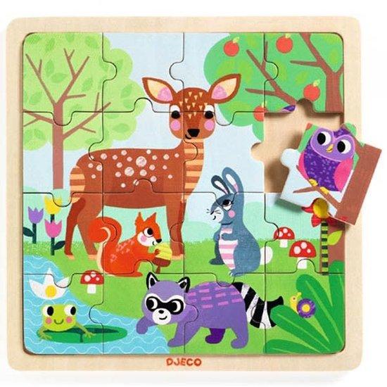 Djeco Djeco - puzzel bos +3jr - 16 stks