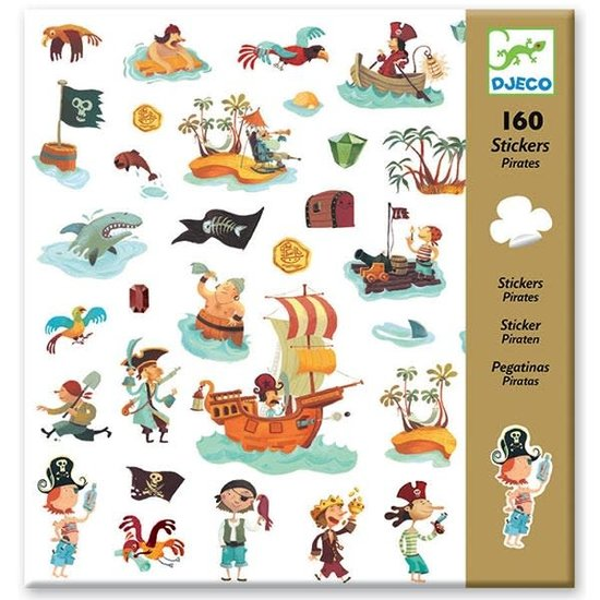 Djeco Djeco stickers Piraten 160 stuks
