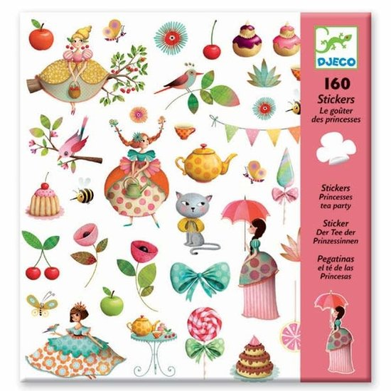 Djeco Djeco stickers Prinsessen theekransje 160 stuks