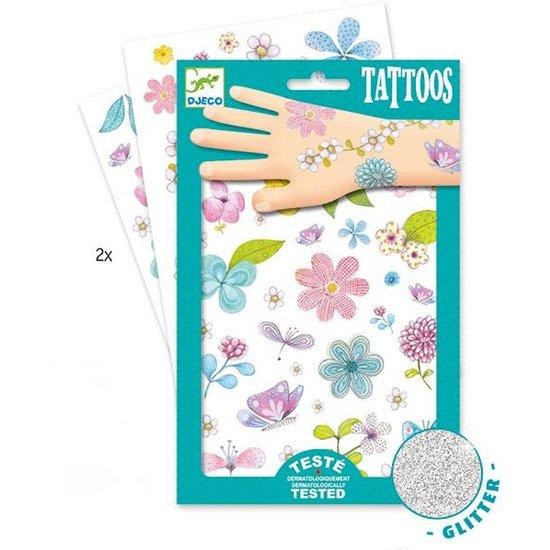 Djeco Djeco - tattoos Bloemen - glitter +3jr