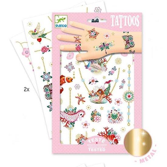 Djeco Djeco - tattoos Fiona's jewels - metallic +3yrs
