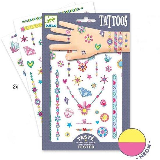 Djeco Djeco - Tattoos Jennis Juwelen - Neon +3 Jahren