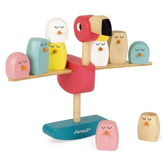 Janod speelgoed Janod - evenwichtsspel Flamingo - gezelschapsspel +3 jr