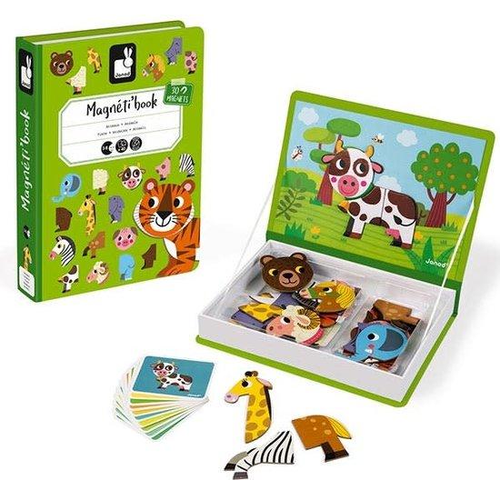 Janod speelgoed Janod - magneetboek dieren - 40st 3-8jr