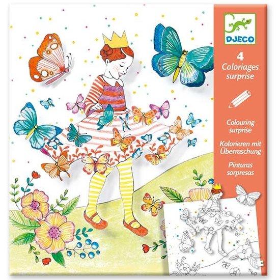Djeco Färbung 3D - Dame Schmetterling - Djeco