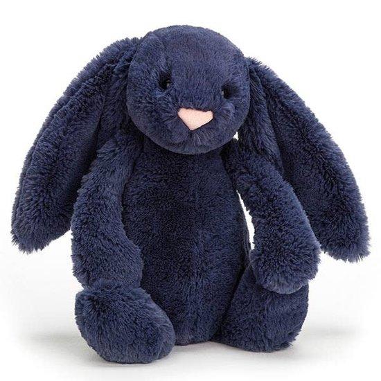 Jellycat Kuscheltier Hase - Bashful Navy Bunny - Medium - Jellycat