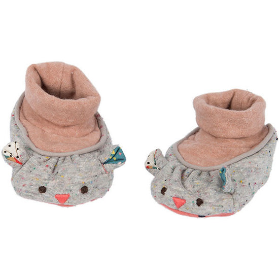 Moulin Roty Moulin Roty - Les Jolis trop Beaux - baby shoes - mouse
