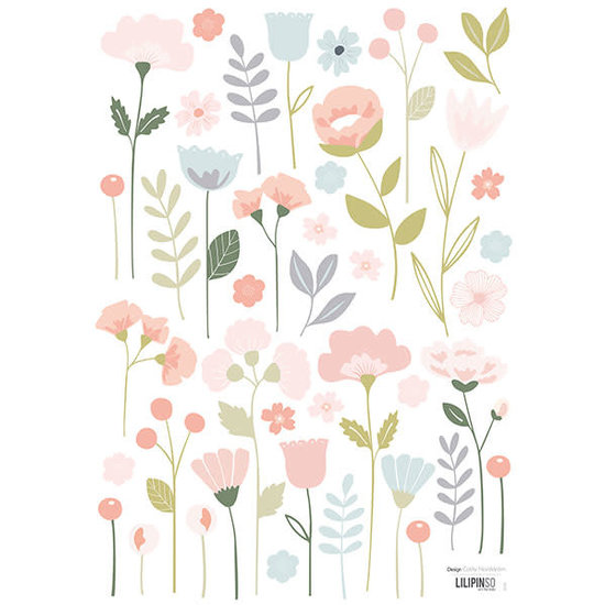 Lilipinso Muurstickers - bloemen - Bloom - Lilipinso - A3