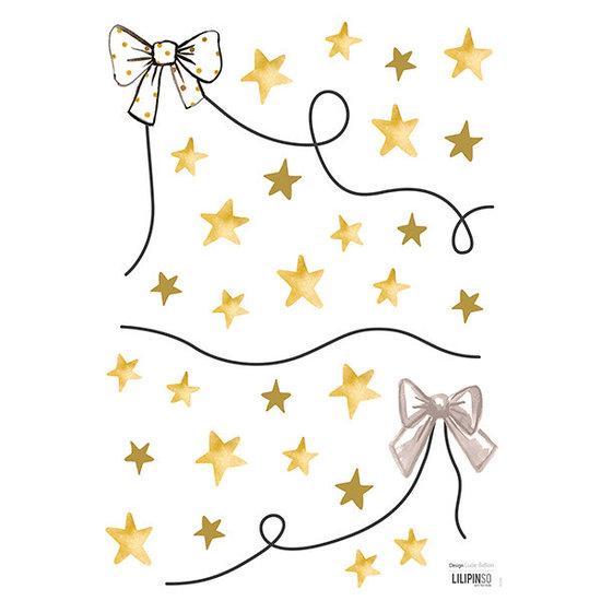 Lilipinso Lilipinso - Flamingo Wandtattoo Bögen und Sterne Gold