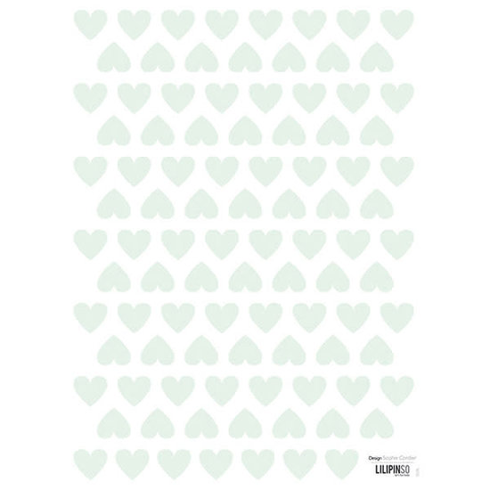 Lilipinso Wall stickers - hearts - mint - Hello Little - Lilipinso