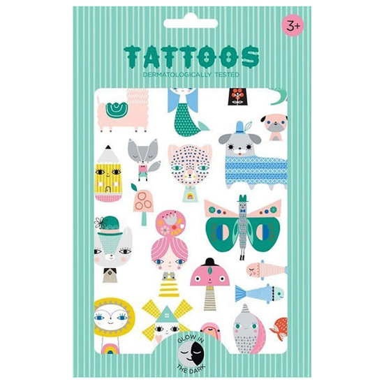 Petit Monkey Petit Monkey - tattoos Leopard - Glow in the dark +3jr