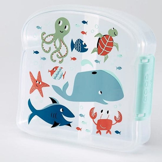 Sugar Booger Lunch box - Sandwich box - Ocean - Sugar Booger