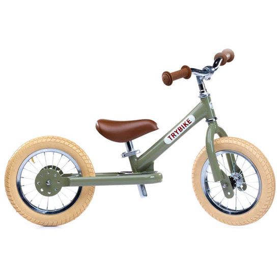 Trybike Loopfietsen Trybike Steel loopfiets Vintage groen