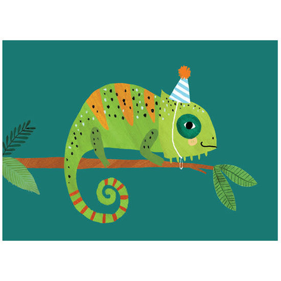 Petit Monkey Geburtstagskarte - Postkarte - Kameleon - Rebecca Jones - Petit Monkey
