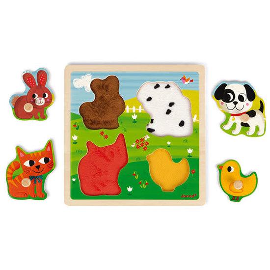 Janod speelgoed Voelpuzzel - Mijn eerste dieren - Janod +12M