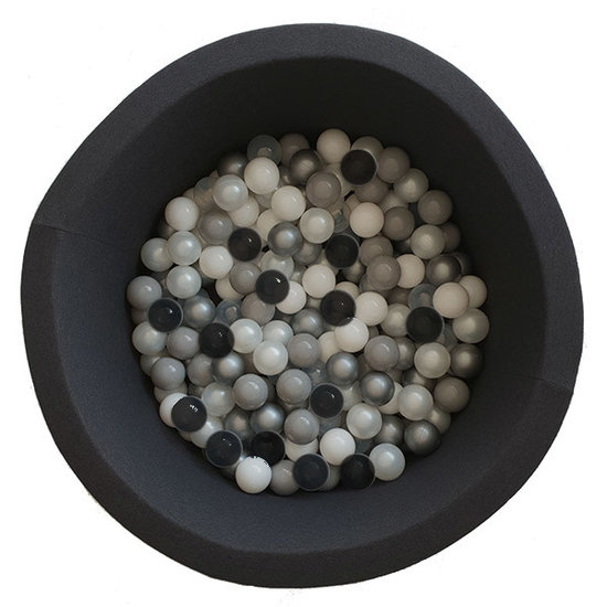 Little Thingz Ball pit - anthracite - incl 200 balls grey-black-pearl