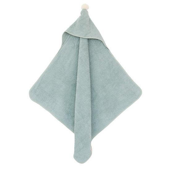 Nobodinoz tipi en accessoires Badcape - So Cute - 73x73cm - green - Nobodinoz