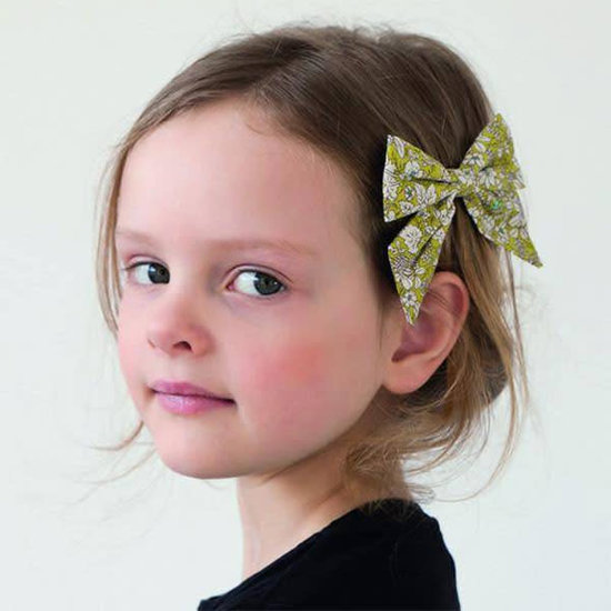 Mimi and Lula Haarspeld - Pepper printed Bow Flower - Mimi and Lula