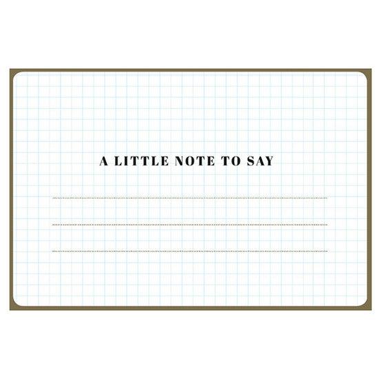 Enfant Terrible Karte - A little note to say - Enfant Terrible