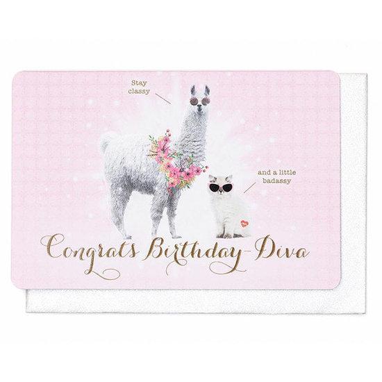 Enfant Terrible Kaart - Congrats Birthday Diva - Enfant Terrible