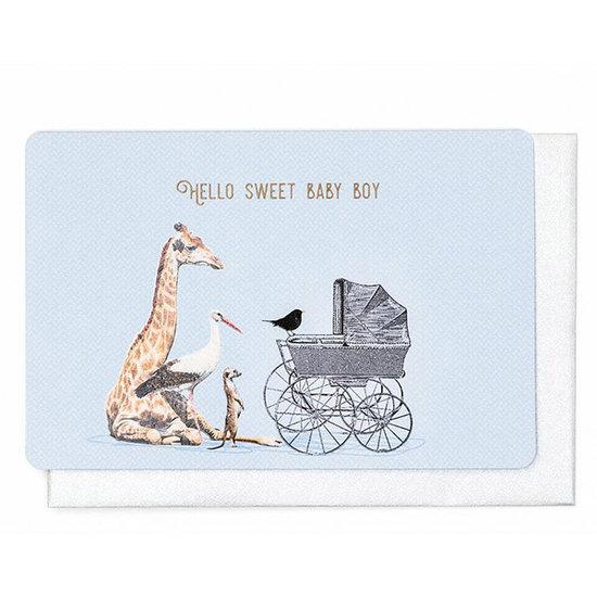 Enfant Terrible Kaart - Hello sweet baby boy - Enfant Terrible