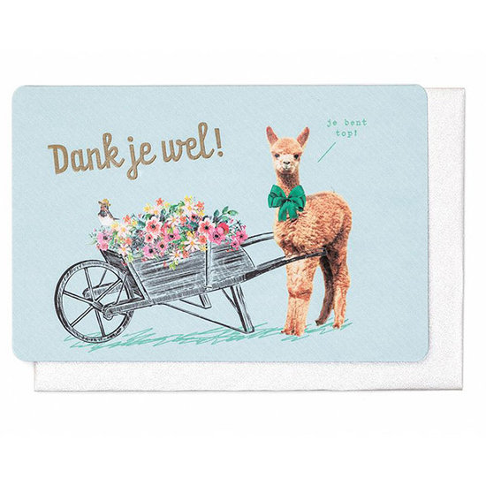Enfant Terrible Card - Lama Dank je wel - Enfant Terrible