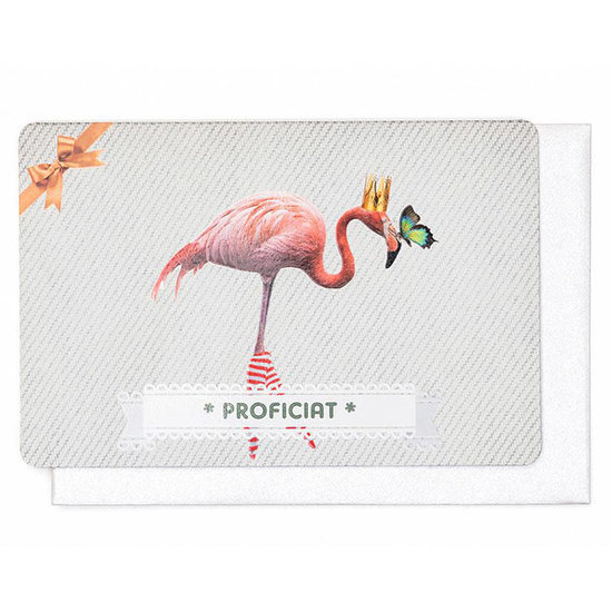 Enfant Terrible Karte - Proficiat - flamingo - Enfant Terrible