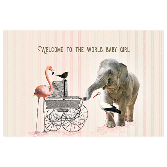 Enfant Terrible Karte - Welcome to the world baby girl - Enfant Terrible