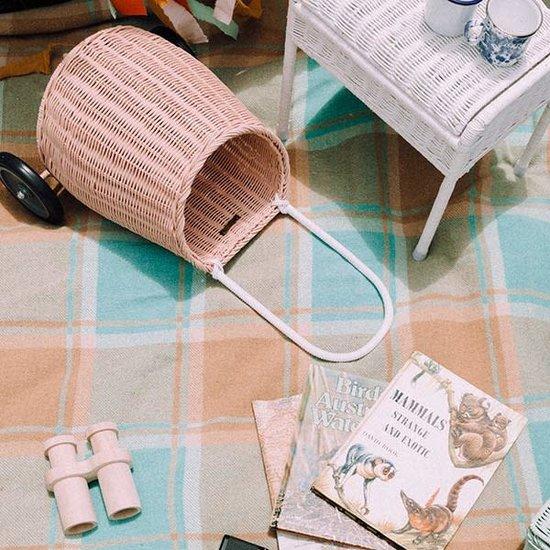 Olli Ella Olli Ella - Luggy basket rose - trolley - wicker basket