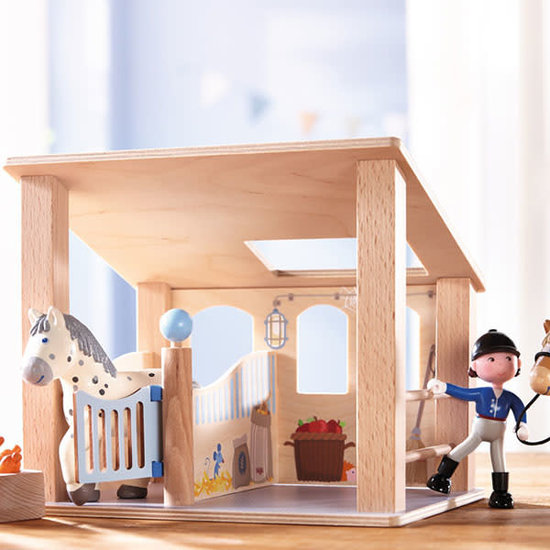 Haba Little Friends Puppenhaus - Pferdebox - Haba