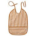 Slabbetje waterproof Lai Stripe Mustard Liewood