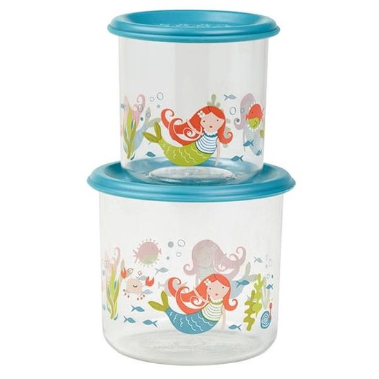 Sugar Booger Food containers Isla the mermaid - Large - Sugar Booger - set of 2
