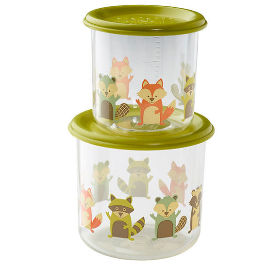 Sugar Booger Food containers Fox - Large - Sugar Booger - set of 2