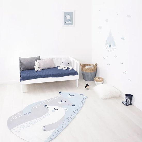 Lilipinso Carpet - rug - Artic Dream - 3 polar bears - Lilipinso