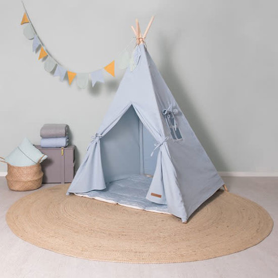 Little Dutch Teepee blue with playmat and garland - Little Dutch