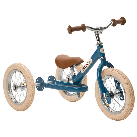Trybike Loopfietsen Trybike Steel 2-in-1 Laufrad Vintage Blau