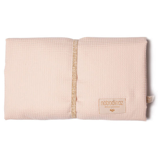 Nobodinoz tipi en accessoires Changing mat - Mozart waterproof - dream Pink - Nobodinoz